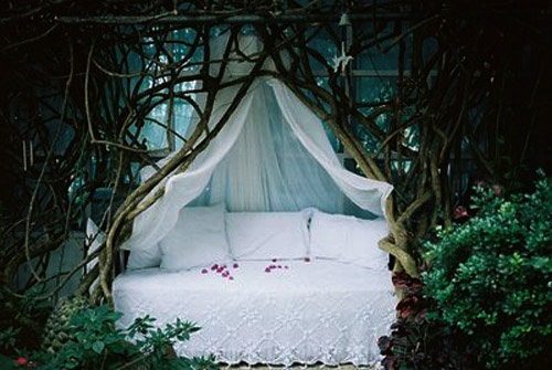 boho, nature, trees, bed, photography