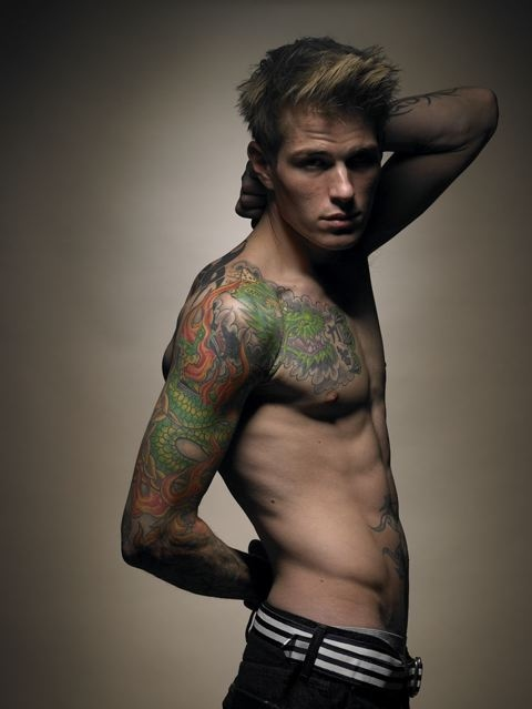 boy, hot, man, sexy, tatto