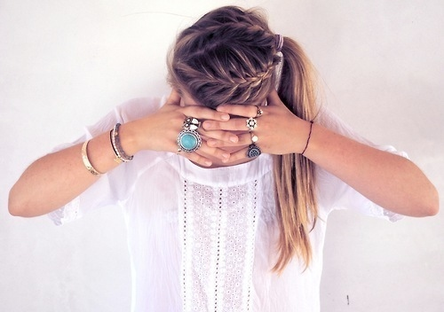 braid, cute, fashion, girl, photography