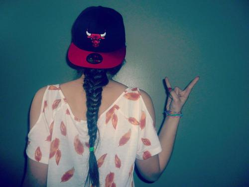 braid, girl, chicago bulls