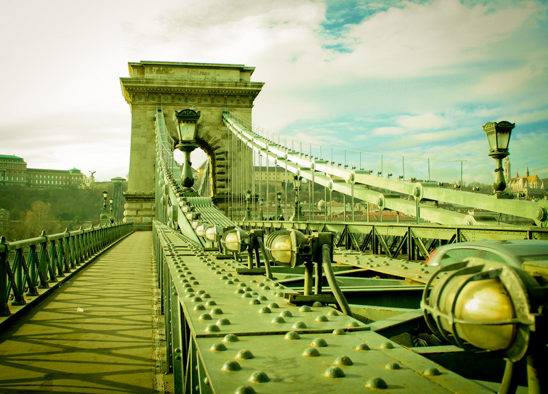 budapest, hungary, chain bridge, bridge, architecture