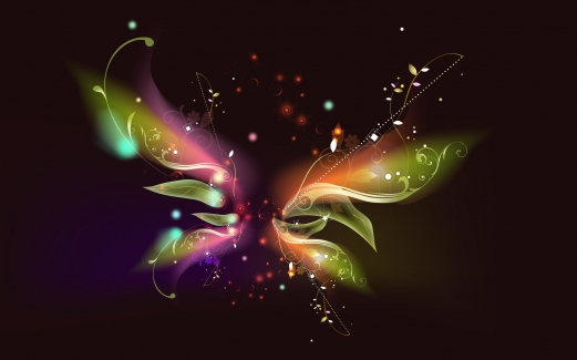 butterfly, abstract, brightly