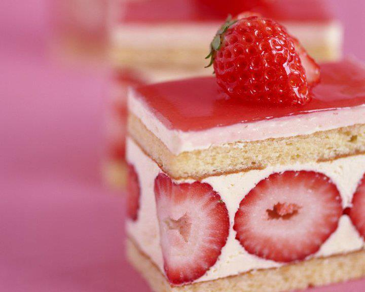 cake, strawberry, pink, delicious, love