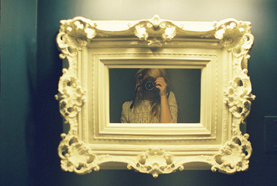 camera, girl, mirror, photography, pretty