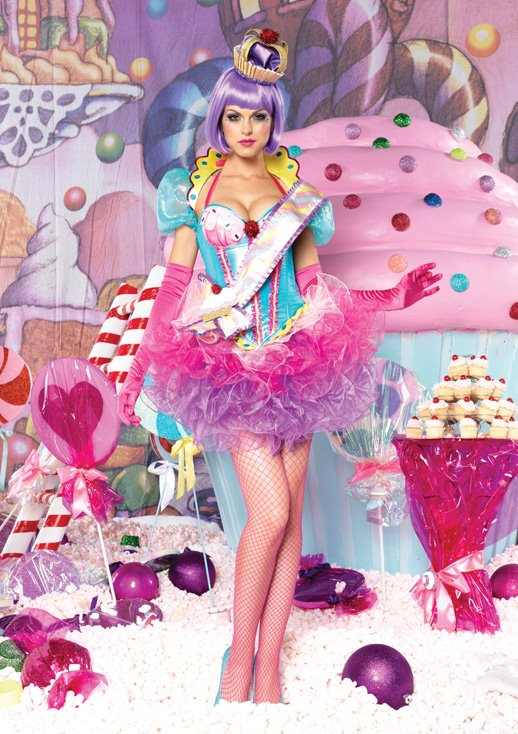 candy girl, halloween outfit, colorful