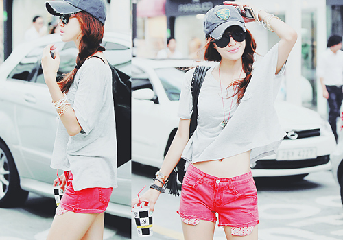 cap, fashion, korea, korean girl, sunglasses