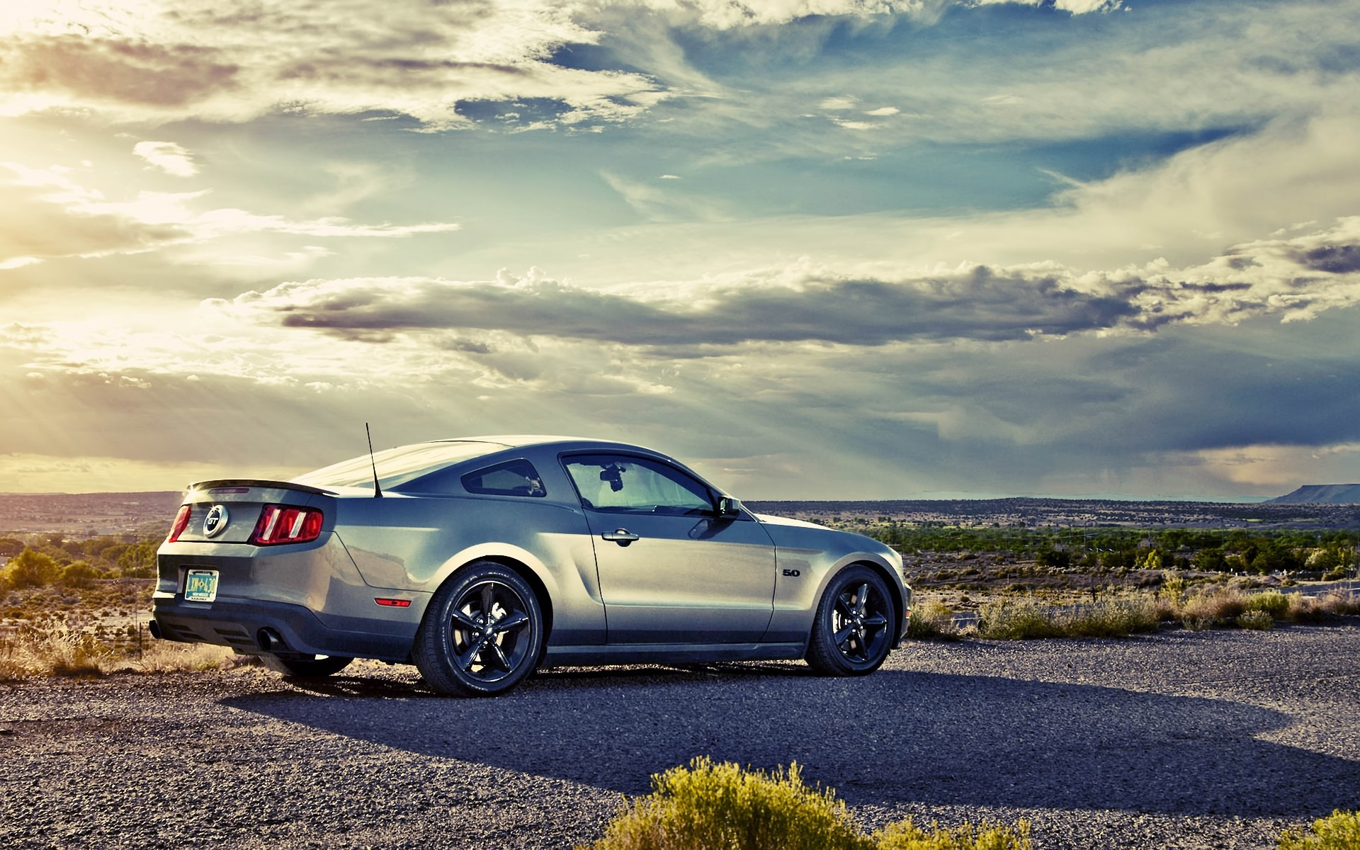 cars, clouds, mustang