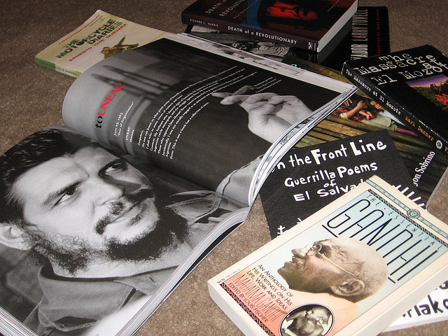 che, gandhi, books, book