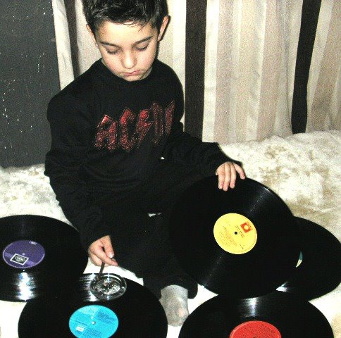children, kids, rock n roll, funny, vinyl