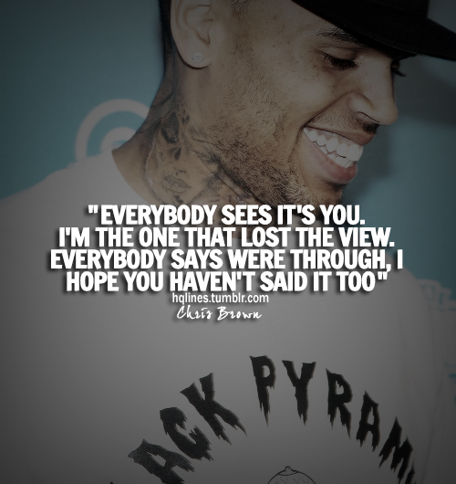 Chris Brown Quotes And Sayings Chris Brown Quotes. Qu...