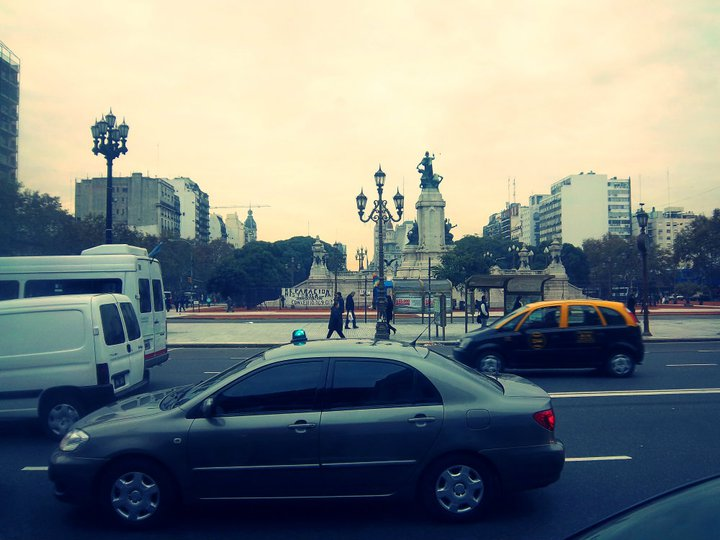 city, cars, square, boulevard