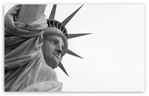 closeup, statue, liberty