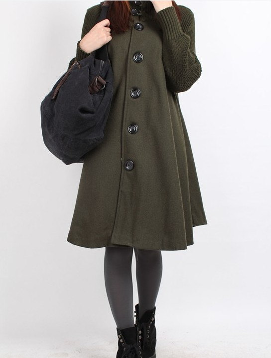 army, babydoll, black, clothing, coat, gray, green, jacket, long sleeve, red, t cape coat, winter, women, wool overcoa