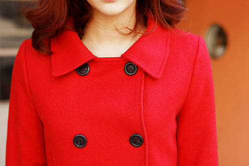 coat, fashion, girl, red, selena gomez