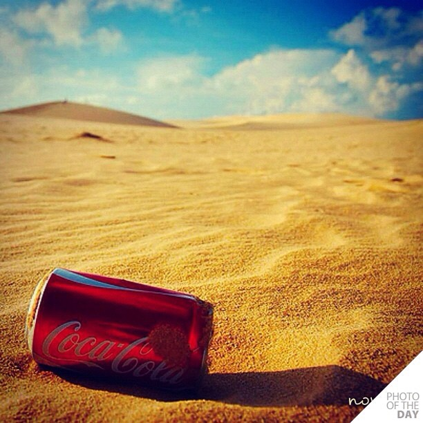 cola, desert, hot, sun, sand