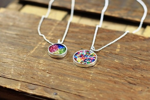 colorful pendant, colorful necklace, fashion necklace