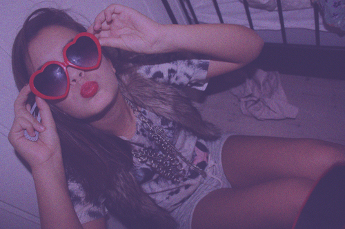 cool, fashion, glasses, love, red