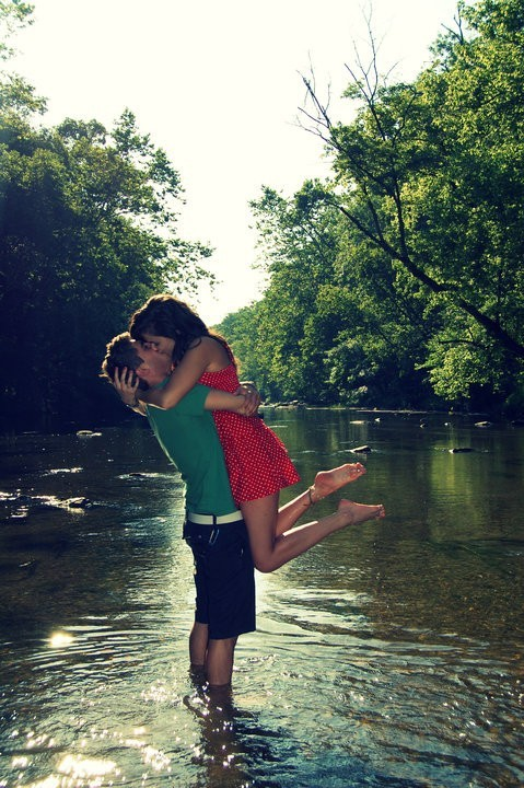 couple, cute, girl, boy, river