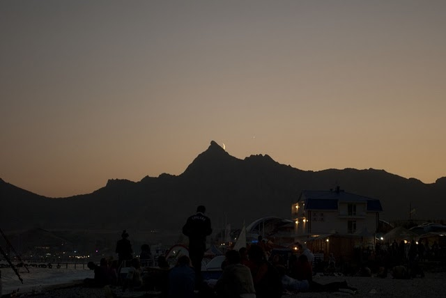 crimea, festival, moon, mountains, seaside
