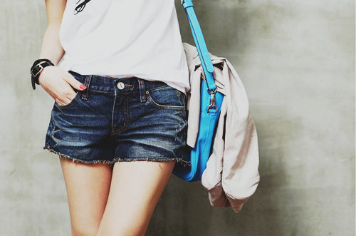 cut off shorts, denim, fashion, girl, shorts