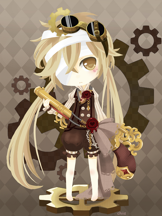 cute, chibi, anime, manga, steampunk