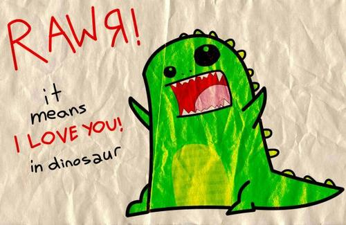 cute, dino, animal, text, love