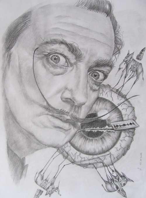 dali, salvador, salvador dali, surrealism, drawing