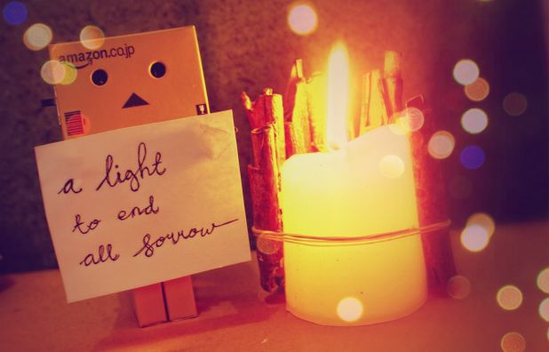 danbo, quotes, candle, light