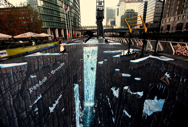 deviantart, jamielawrence, 3d chalk drawing