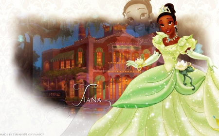 disney, princess, tiana, wallpaper