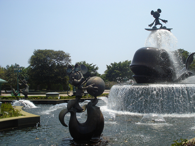disney, waterfountain