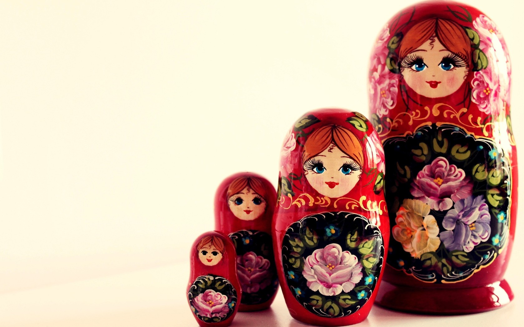 dolls, background, four souvenir