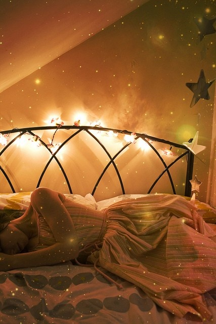 dreamy, romantic, bedroom, fairylights, fairy