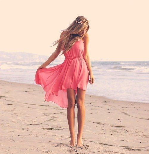 dress, pink, girl, beautiful, blonde