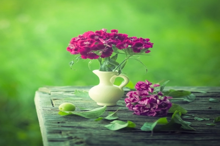elegance, evening, flowers, green