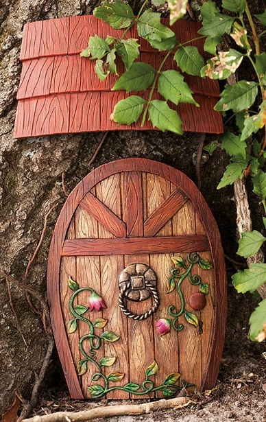 Fairy woods door nature whimsical image 542960 on for Fairy house doors