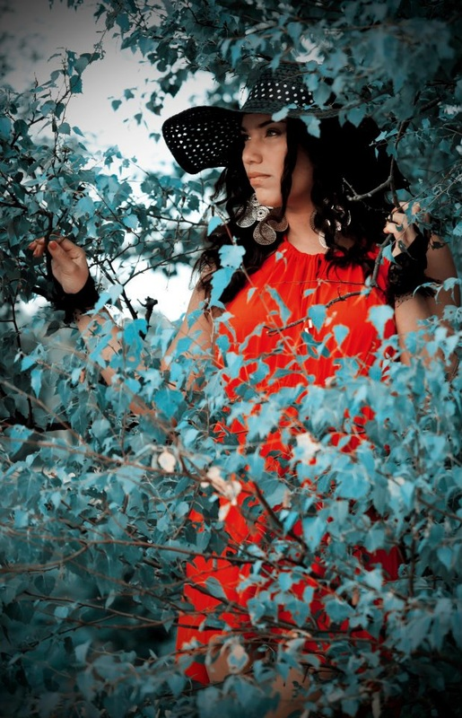 fashion, girl, red, had, nature