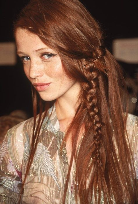 fashion, hair, braid, red hair, girl