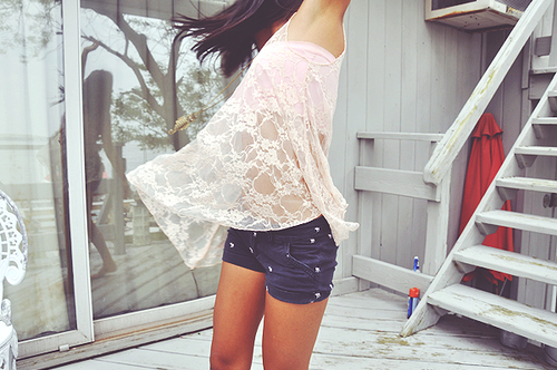 art, beautiful, couple, cute, fashion, hair, lace, photography, pretty, shorts, tank
