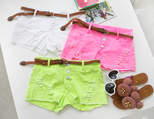 fashion, shorts, girly, neon, cute