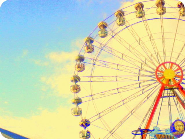 ferris wheel, fun, amusement park