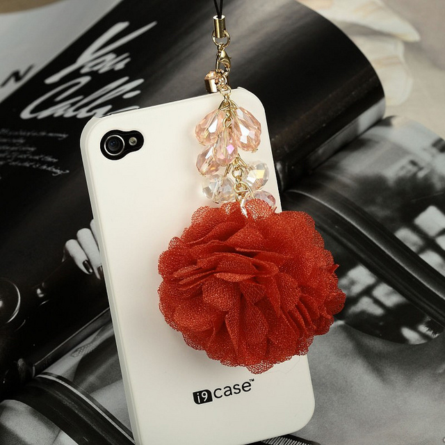 flower dust plug charms, 3.5mm earphone dust plug charms, cute phone anti-dsut plug charms, fashion dust proof plug charms, beautiful phone dust plug charms