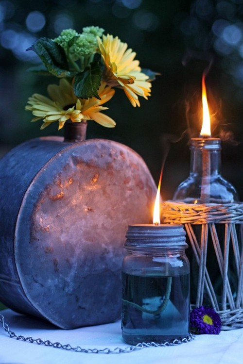 flower, nature, boho, candles, fire