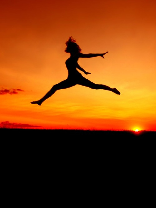 fly, girl, jump, photo, red