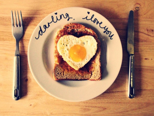 breakfast, egg, food, heart, toast