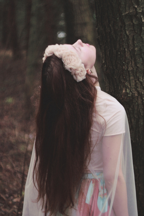 forest, wood, nymph, hair, nature