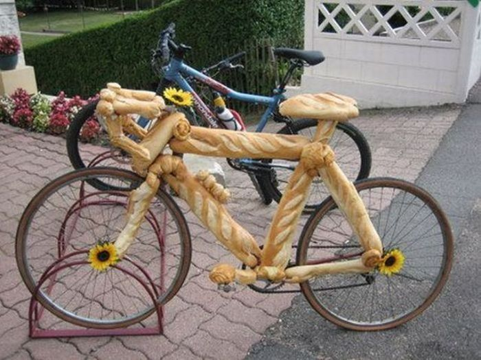 bread, bycicle, funny