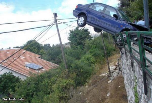 car, crash, funny
