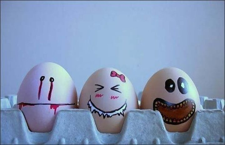 funny, eggs, food