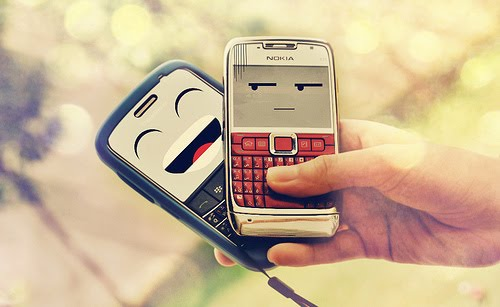 funny, phone, smile, nice